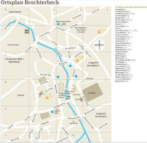 Ortsplan Brochterbeck